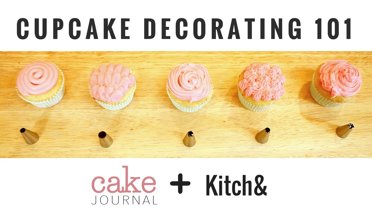 Cupcake Decorating for Beginners + GIVEAWAY - YouTube
