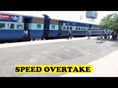 WAP5 TVC Rajdhani Thrashes Passenger Bharatpur