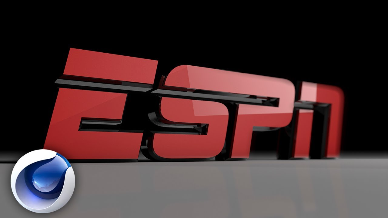 Logo ESPN en Cinema 4D (free template - plantilla gratis ...