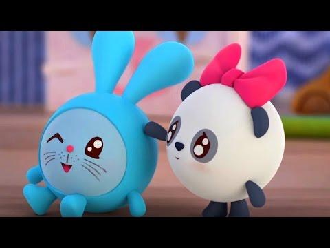 Малышарики - Мяу? Гав! (Как говорят животные)😺 - серия 65 - обучающие мультфильмы для малышей 0-4 - Лучшие видео поздравления в ютубе (в высоком качестве)!