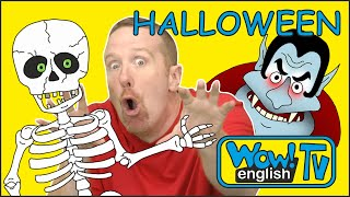 Halloween Finger Family Songs with Hide and Seek from Steve and Maggie | Wow English TV for Kids