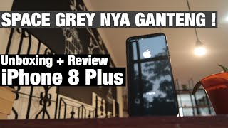 unboxing first impression iphone 8 plus space gray indonesia