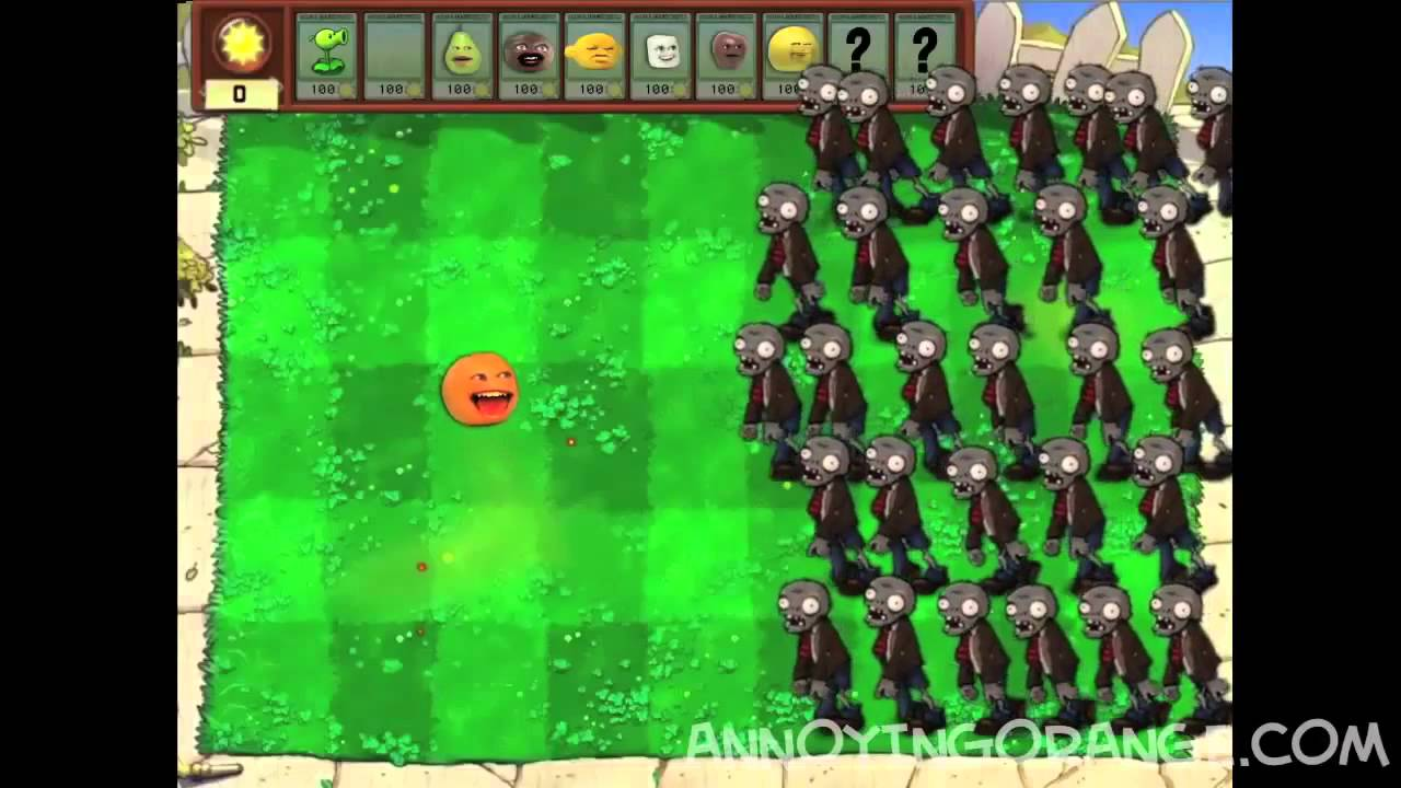 fruits vs zombies annoying orange youtube