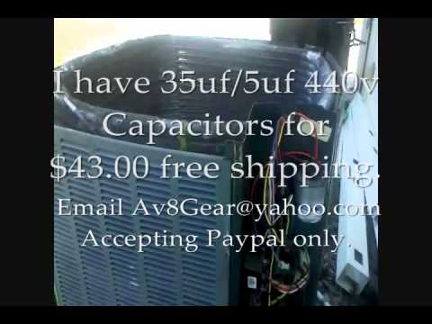 Ac Problem Repair Trane Xr13 Fan Motor Capacitor
