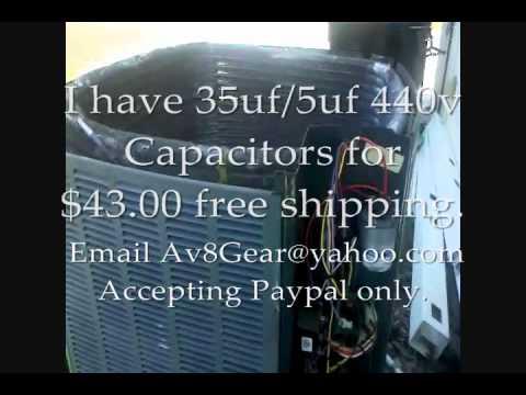 AC Problem/Repair TRANE XR13 - Fan Motor, Capacitor Trouble Shoot