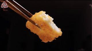 Cantonese Dessert: Deep Fried Milk | 脆皮炸鲜奶,一口下去,品尝恋爱的滋味 [Geometric Image| 几何映像]