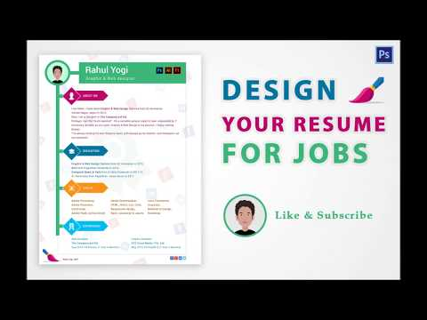 Photoshop tutorial - Design your Resume for Jobs