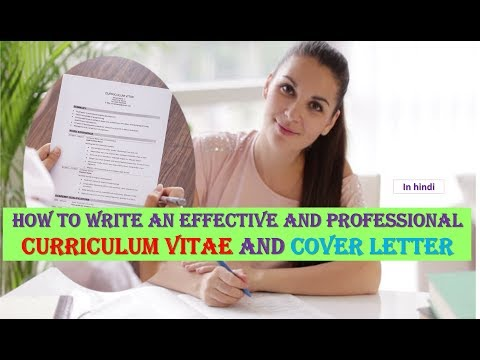 How To Write an Effective and Professional Curriculum Vitae,Resume