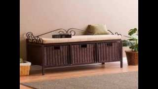 Entry Way Bench With Storage By Optea-referencement.com