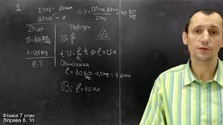 Фізика 7 клас. Вправа № 8