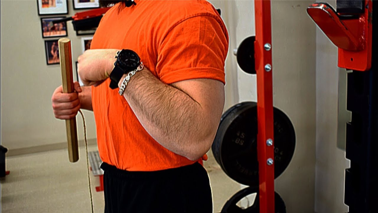 """Homemade 2/"""" Thick Exercise For Higher Increase In Grip Strength Wrist Roller"""