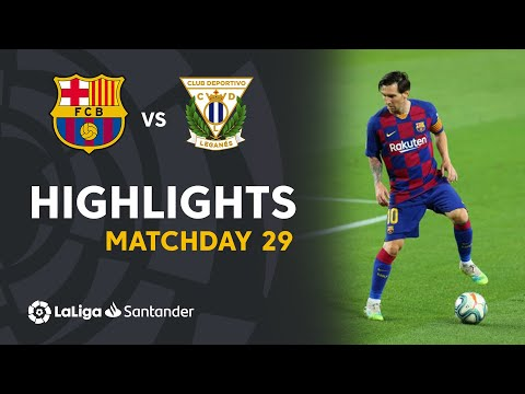 Highlights FC Barcelona vs CD Leganés (2-0)