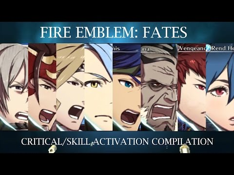 Fire Emblem Fates - Critical Hit/Skill Activation Quotes [Japanese Dub]
