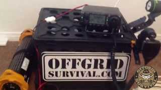 emergency off grid communication ham radio icom ic 703 running off solar charger