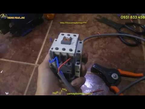 Video hướng dẫn  cách đấu phao điện với khởi động từ cho máy bơm nước !! 1 Pha và 3 Pha