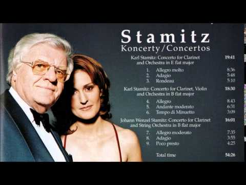 Karl Stamitz Concerto for Clarinet and Violin in B flat major, Suk / Peterkova
