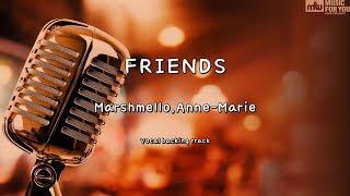 FRIENDS - Marshmello,Anne-Marie (Instrumental & Lyrics)