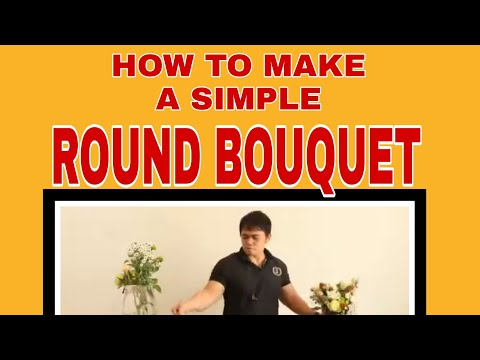 #filipinoflorist #pilipinoflorist round bouquet flower arrangement |12| florist in Qatar