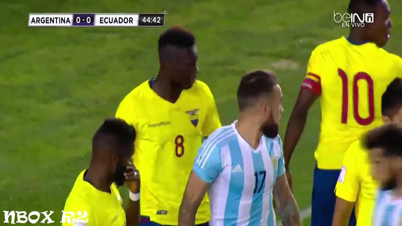 ملخص واهداف مباراة الارجنتين والاكوادور 0-2 تصفيات كاس ...