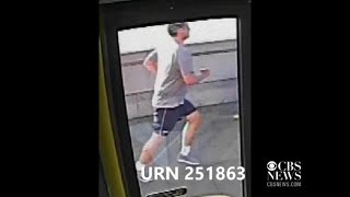 London jogger caught on video pushing woman in front of bus