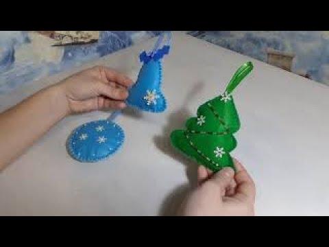 Новогодние игрушки из фетра на елку своими руками