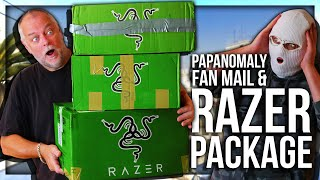 UNBOXING HUGE RAZER PACKAGE (PAPA FAN MAIL 5)