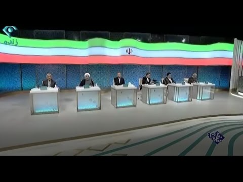 Dispute of Hassan Rouhani and Bagher Ghalibaf in debate of presidential candidates