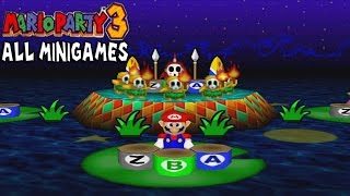 Mario Party 3 - All Minigames [ HD ]