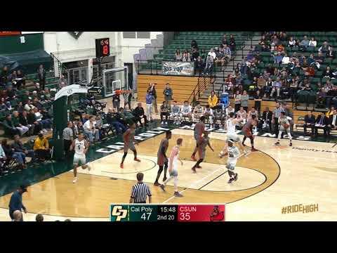 Cal Poly v CSUN, Men's Basketball Highlights -- Feb. 22, 2018