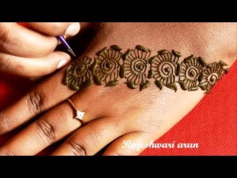 Simple Special Mehndi Design For Back Hands New Latest Mehndi