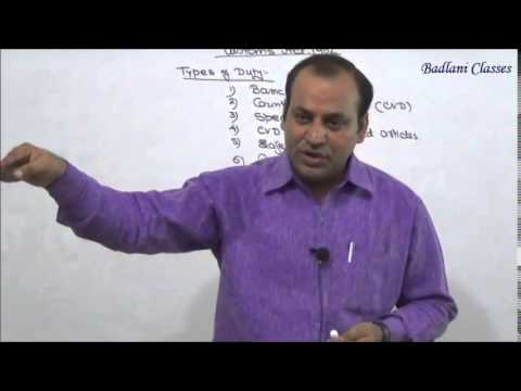 IDT - Indirect Tax - Customs Act, 1962 - Lecture 1