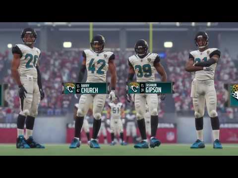 Madden 18 - Jacksonville Jaguars   vs   Arizona Cardinals - Full Game Simulation Nation