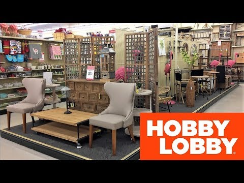 HOBBY LOBBY FURNITURE SPRING SUMMER HOME DECOR - SHOP WITH ME SHOPPING STORE WALK THROUGH 4K