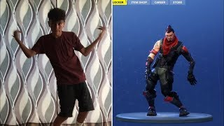 FORTNITE DANCE CHALLENGE in REAL LIFE ( Season 4 DANCES )