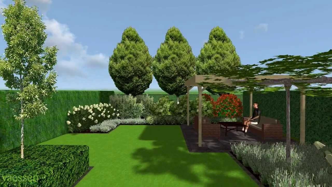 herman vaessen 3d tuinontwerp strakke tuin met hagen en blokhagen youtube. Black Bedroom Furniture Sets. Home Design Ideas