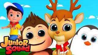 песня животных | стихи для малышей | потешки | Junior Squad Russia | мультфильмы