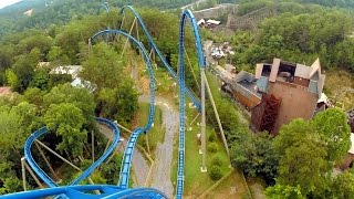 Wild Eagle right front seat on-ride HD POV @60fps Dollywood