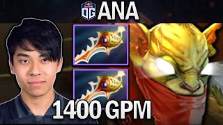 OG.ANA SMURF BOUNTY HUNTER WITH 1400 GPM - DOTA 2 7.28 GAMEPLAY
