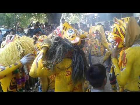 Tigers with marfa Jagtial cheetas peddapuli band