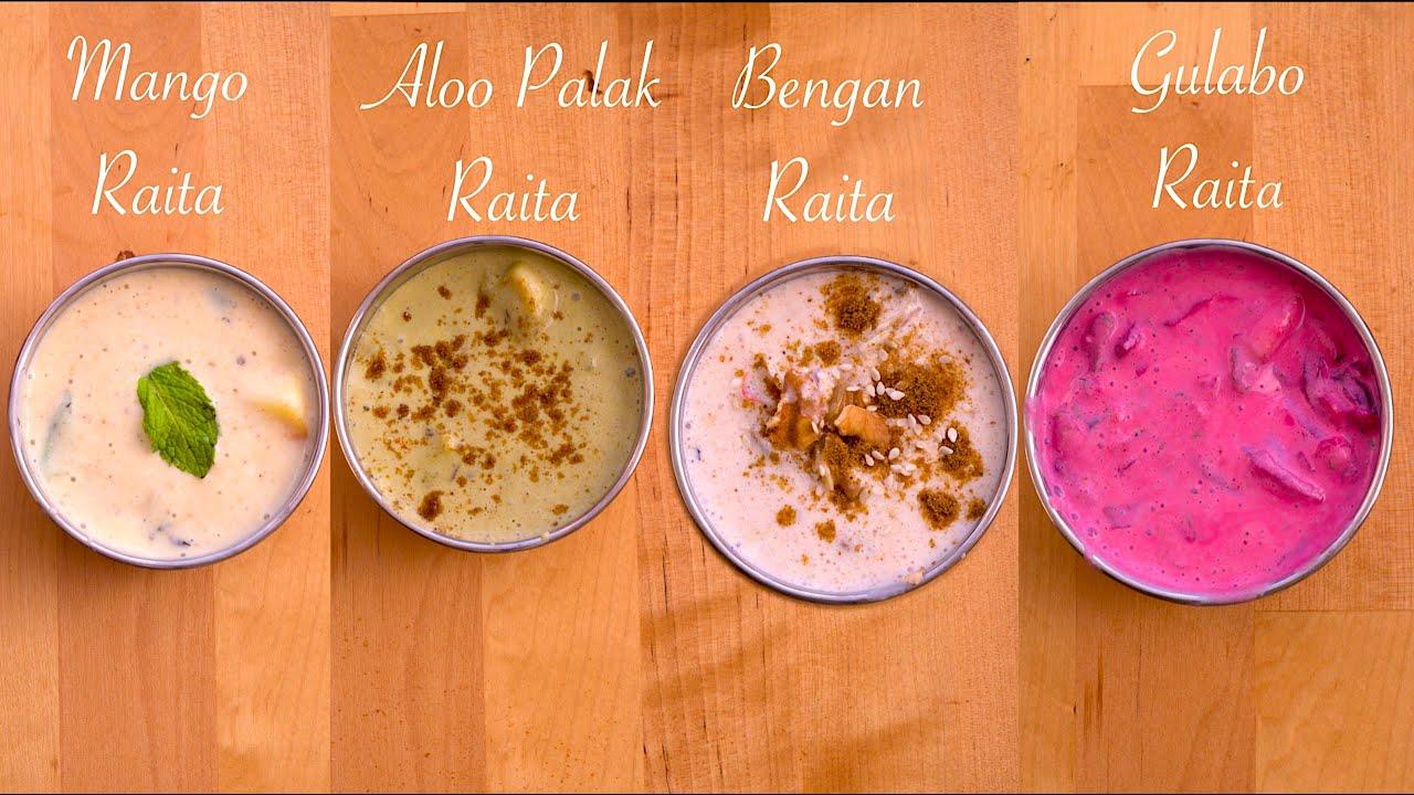 4 नए आसान और झटपट रायता   4 Easy and Quick Raita Recipes   Raita Recipe  Summer Special Raita  