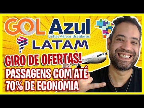 PASSAGENS COM ATÉ 70% DE DESCONTO HOJE! GOL, AZUL E LATAM PROMOCIONAL!