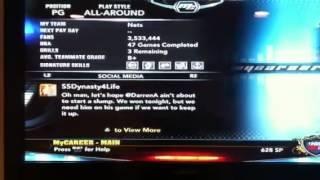 Nba 2k13 my career ps3 glitch