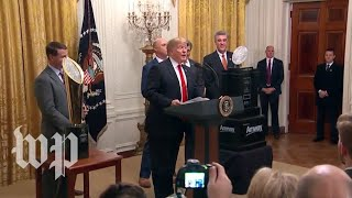 Trump welcomes the Clemson Tigers to the White House
