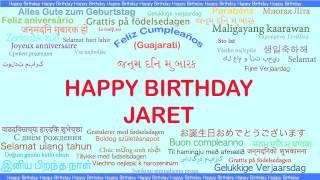Jaret   Languages Idiomas - Happy Birthday