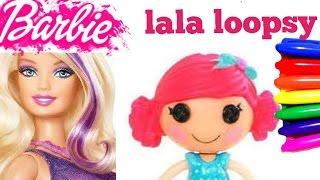 Baixar Disney Barbie and LALAloopsy Nick Jr. Coloring Page - Coloring arts