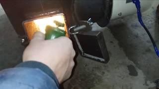 Калорифер на отработке в гараже быстрое временное решение