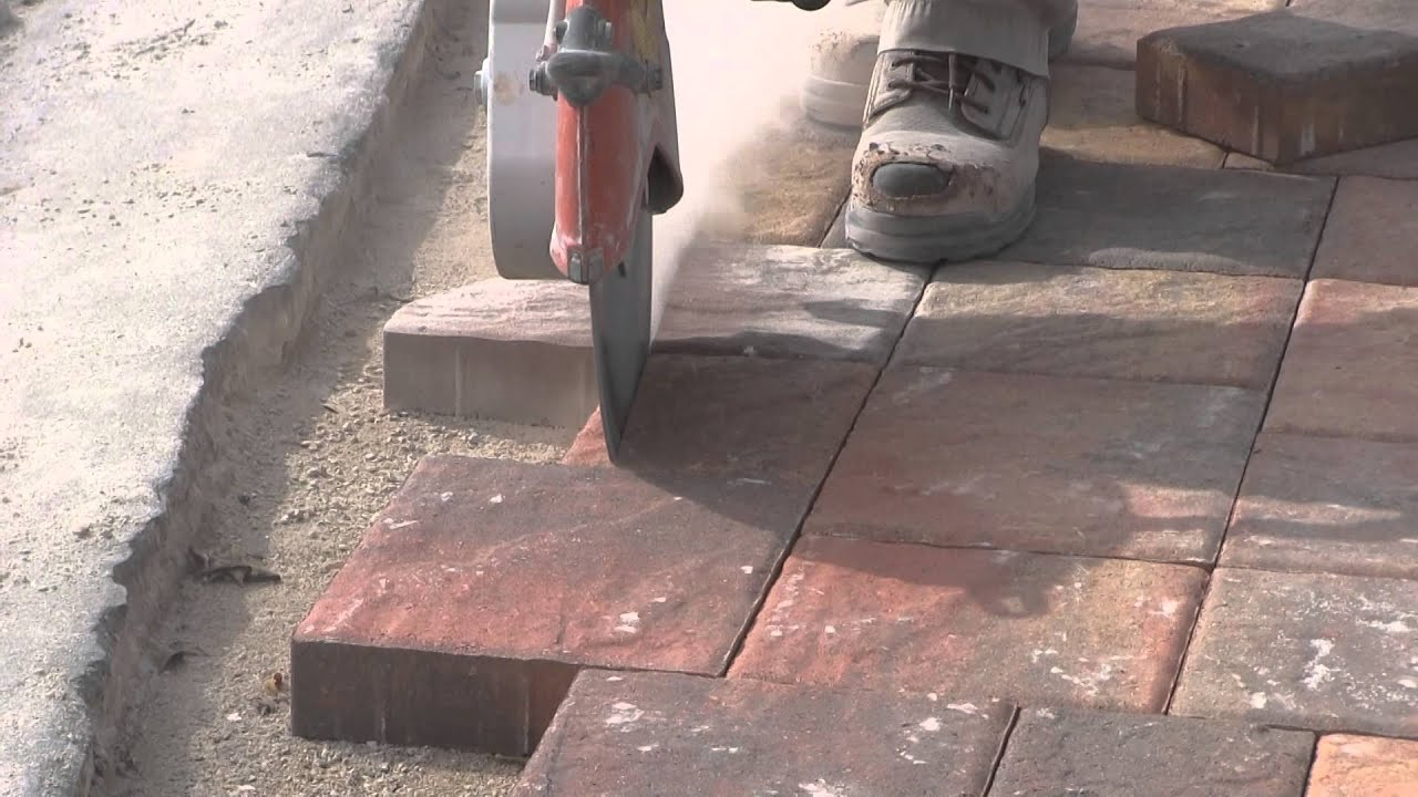 Cutting The Paver Border Youtube