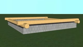 видео Постройка бревенчатой бани