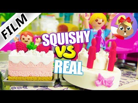 Playmobil Film polski - PRAWDZIWE JEDZENIE vs SQUISHY 2 CHALLENGE + KARA OD Juliana | Wróblewscy