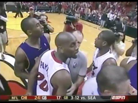 Gary Payton makes Kobe miss game-tying shot + trash talk - Christmas Day 2005